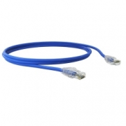 Patch Cord U/utp Sohoplus Cat.5e Cmx T568a/b 0.5m Azul Claro