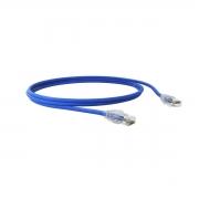 Patch Cord U/utp Sohoplus Cat.6 Cmx T568a/b 2.5m Azul Claro