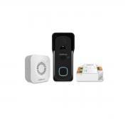 Vídeo Porteiro Com Câmera Wi-Fi IP IntelBras Allo W5+ Preto