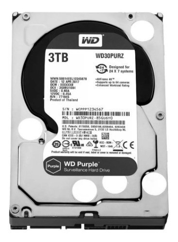 3TB HDs WD Purple Discos rígidos para CFTV