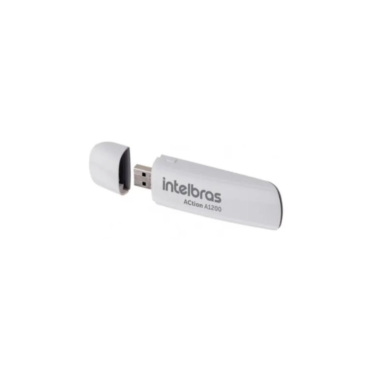 Adaptador Intelbras Usb 3.0 Wireless Dual Band Action A1200