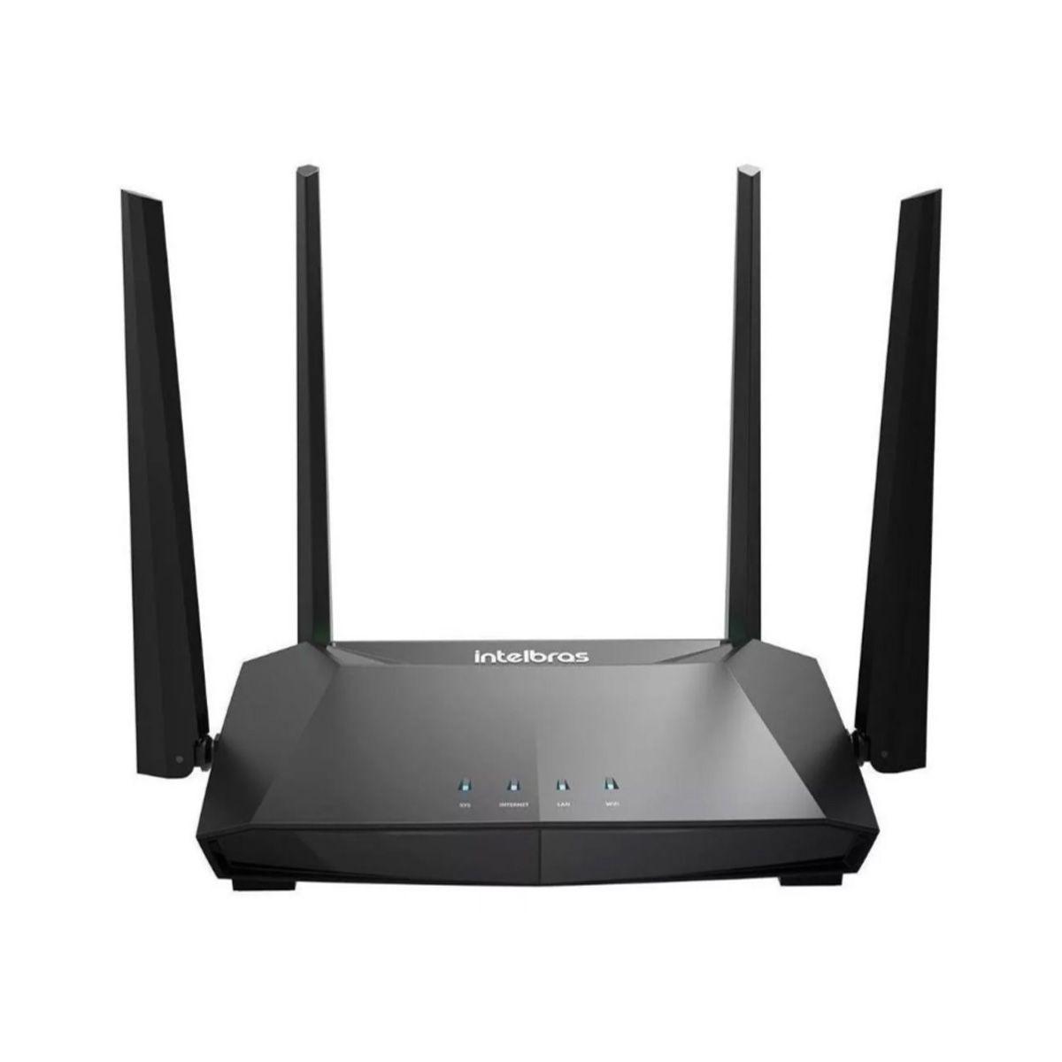 Roteador/Repetidor/Access point Intelbras ACtion RG 1200 preto 100V/240V