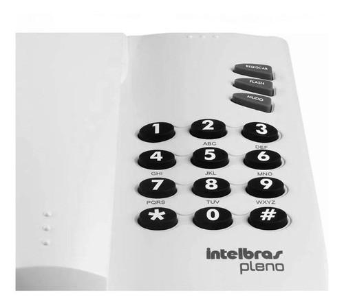 Aparelho Telefonico Fixo C/ Fio Intelbras Pleno Cinza Artico