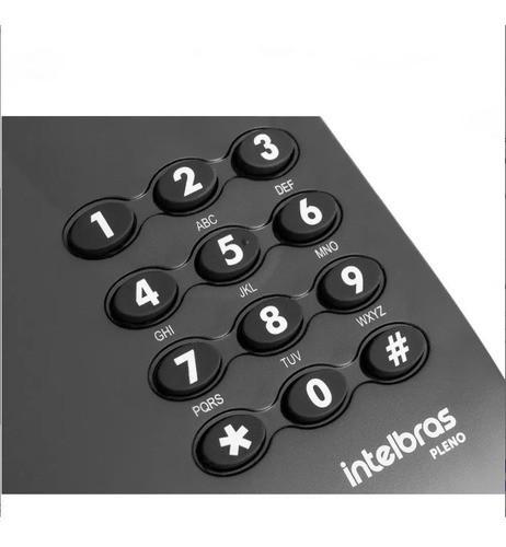 Aparelho Telefonico Fixo Com Fio Intelbras Pleno Preto
