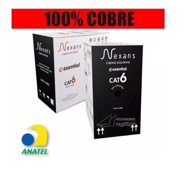Cabo De Rede Cat6 Gigabit Lan Utp Nexans Cores Caixa 305m
