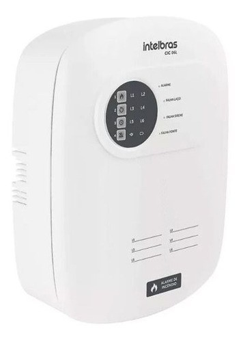 Central Alarme De Incêndio Intelbras Cic 06l Com Bateria