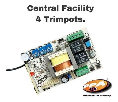 Central Comando Placa Motor Portão Ppa Facility 4 Trimpots