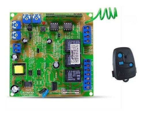 Central De Comando Portão Eletrônico Cp 4000 + Controle