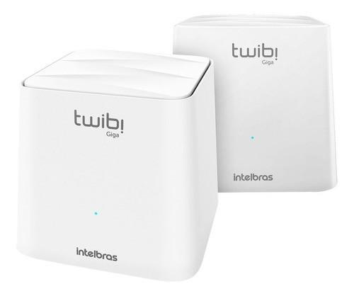 Conjunto Roteador Intelbras Twibi Wifi Mesh Giga 2unid 360m2