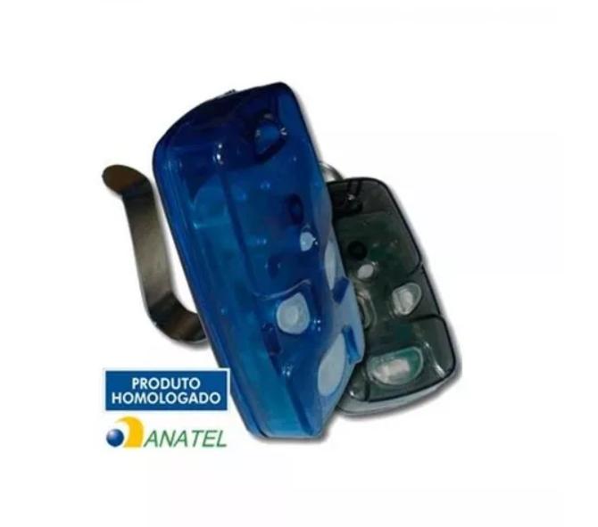 Controle Remoto 4 Teclas Linear TX 4T-A Azul Para Portaria