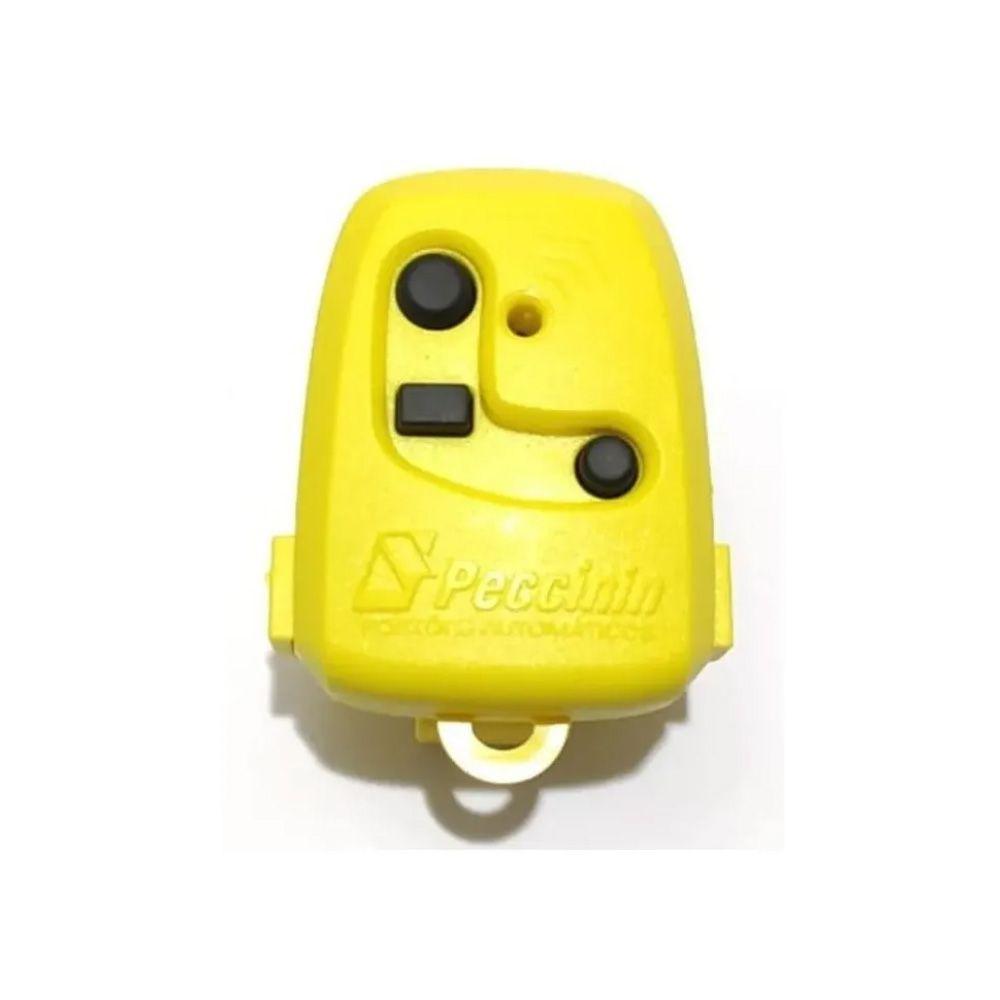 Controle Remoto Portão Peccinin Tx 3c 433mhz Original Amarelo