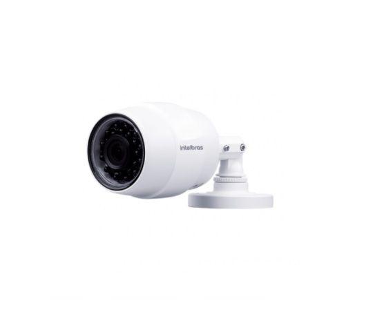 Kit 02 Câmeras Mibo Ic5 Com Cartão de Memória 64gb Intelbras + Cx Sobrepor E Fonte
