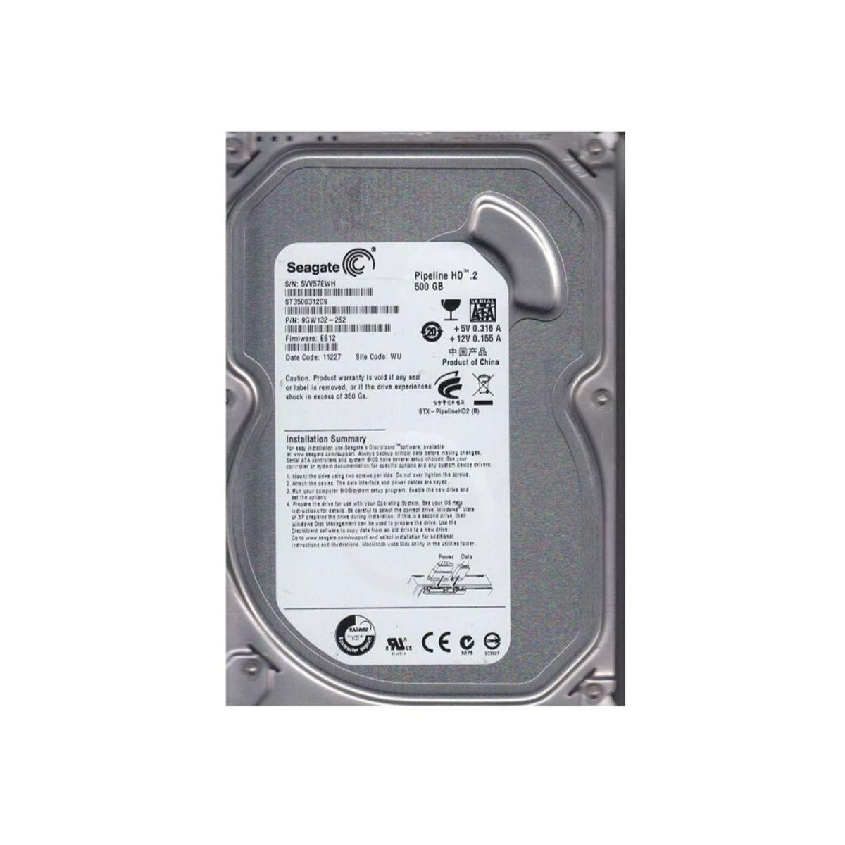 Disco rígido interno Seagate Pipeline HD ST3500312CS 500GB