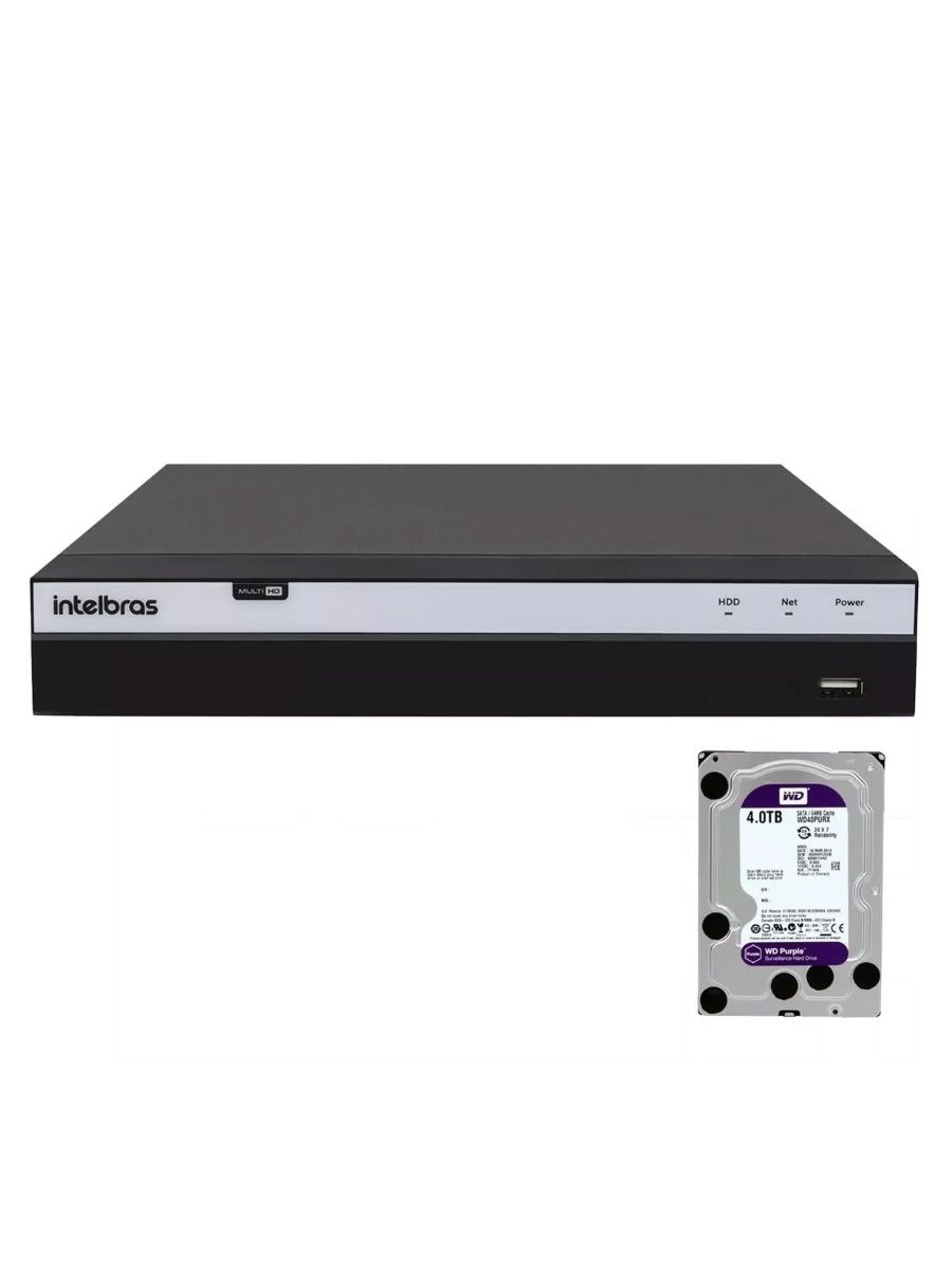 Dvr Intelbras 16ch Mhdx 3116 Full Hd 1080p 5x1 Hd 4tb Purple