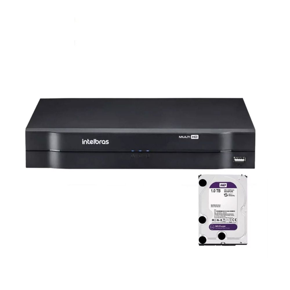 Dvr Intelbras 4ch Multihd H.265 Mhdx 1104 Hd 1 Tb Wd Purple