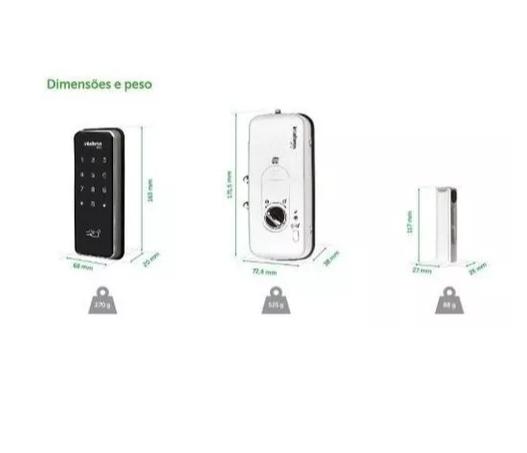 Fechadura Digital Intelbras Fr 201 Senha E Cartão Porta Seg