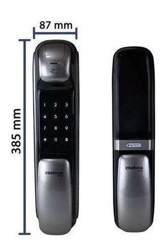 FR 630 Fechadura Digital Push & Pull com biometria Intelbras