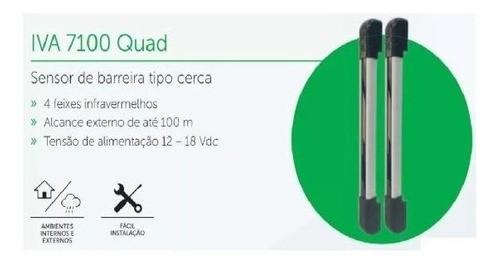 IVA 7100 Quad Sensor de infravermelho ativo de quatro feixes