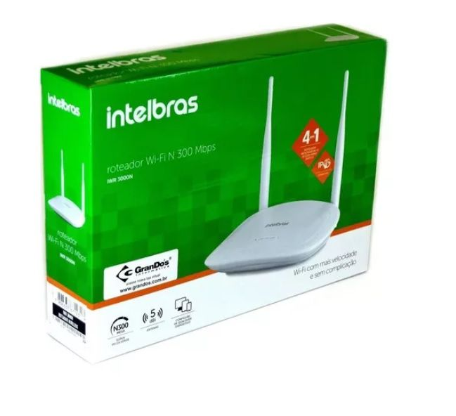 IWR 3000N Roteador Wireless com IPv6 Intelbras