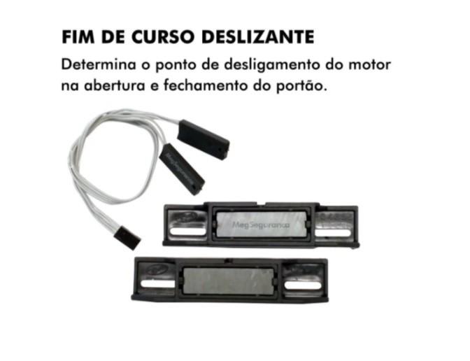 Kit 1 Motor 1/3 Ppa Portão Deslizante Jet Flex 600kg S/ Crem