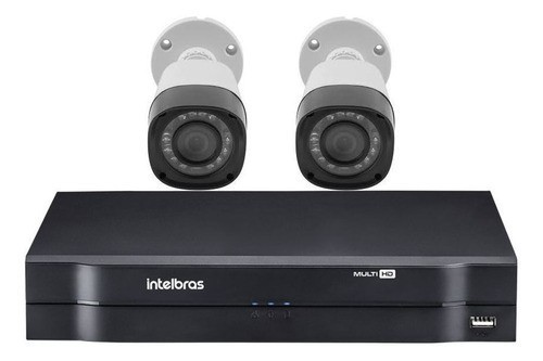 Kit 2 Câmeras Vhd 1220 B G4 Com Mhdx 1108 Intelbras
