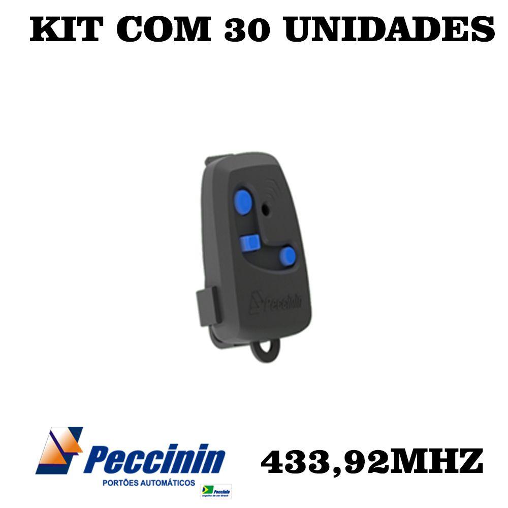 KIT 30 CONTROLES PARA PORTÃO 433,92MHZ PECCININ TX 3C