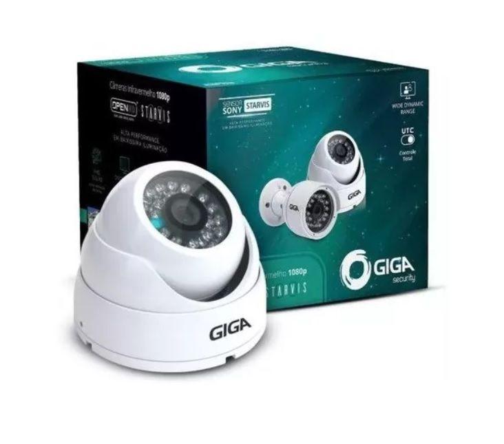 Kit 4 Cameras GS0051 Com DVR Intelbras + fonte 10