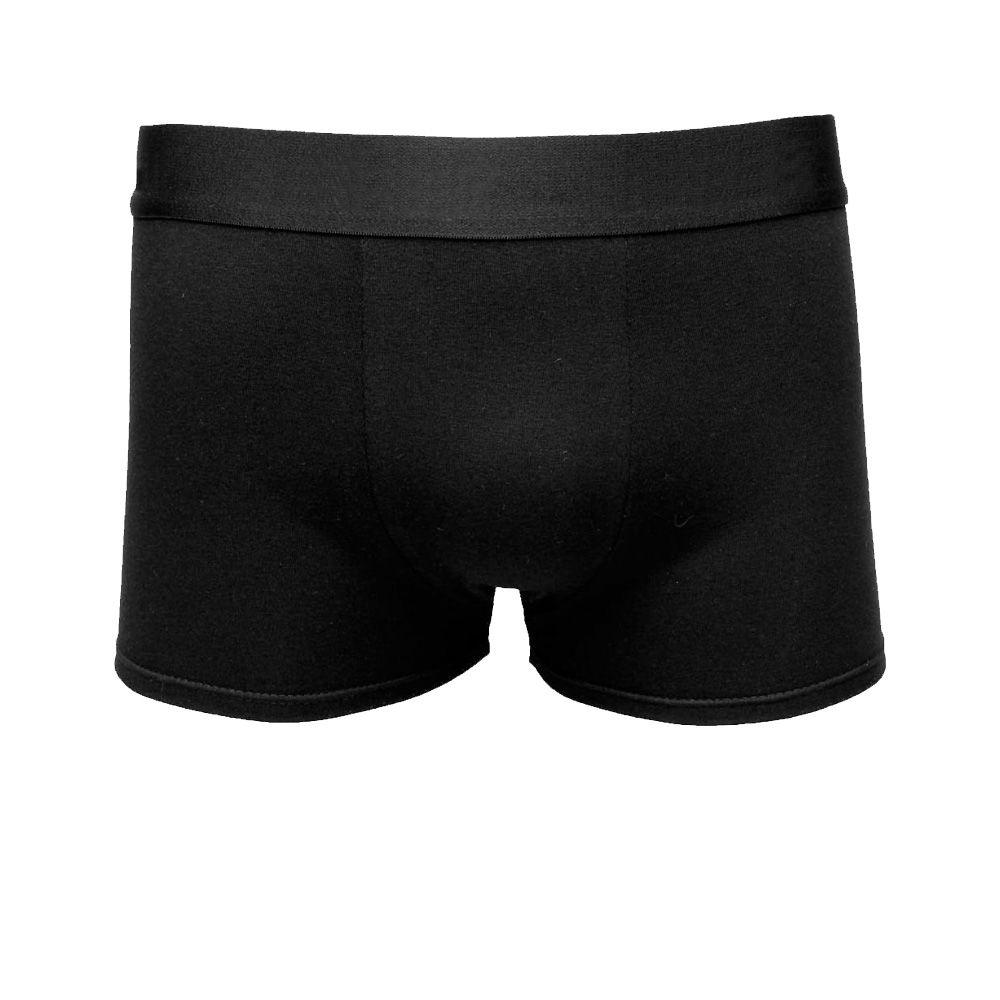Kit 5 Cuecas Boxer Masculina Lisa Algodão Cotton Preto