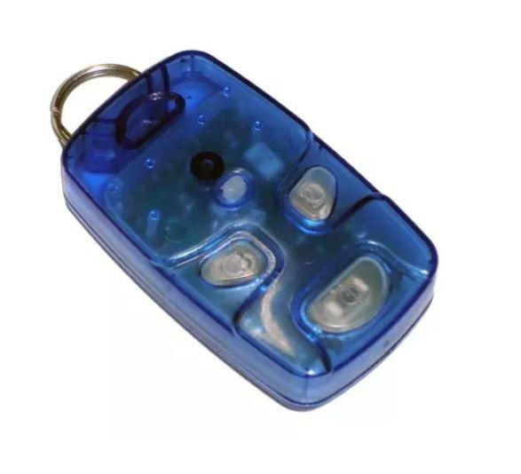 Kit 6 Controle Remoto 433 Mhz 4 Teclas Azul TX4 Linear Portão Alarme