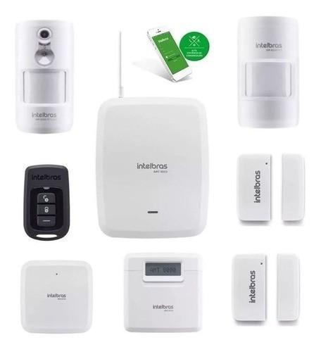 Kit Alarme Amt 8000 Wifi Sem fio Com 6 Sensores Intelbras