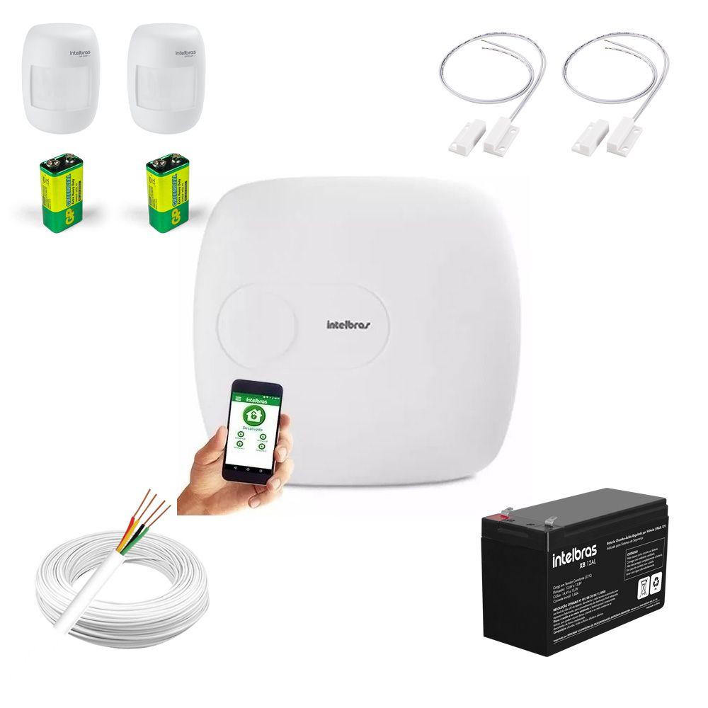Kit Alarme Intelbras Amt 1016 Net e 4 Sensores Com Fio