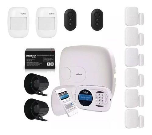 Kit Alarme Intelbras Amt 2018 E Com 8 Sensores Infra-mag e Acessórios