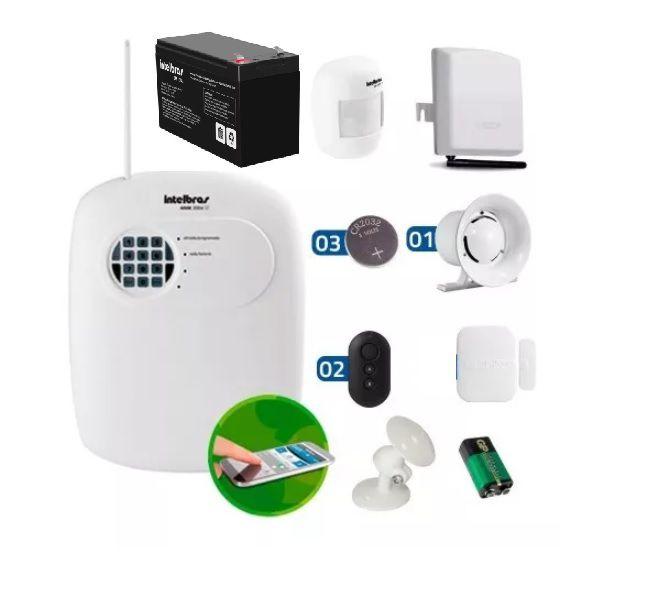 Kit Alarme Intelbras Anm 3004 St Disc Tel S/ Fio Gsm Ecp
