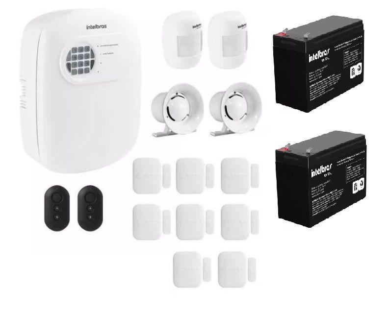 Kit Alarme Intelbras S/ Fio 10 Sensores E Discadora