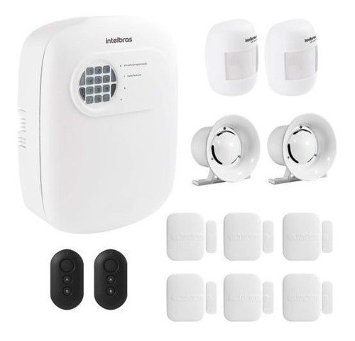 Kit Alarme Intelbras S/ Fio 8 Sensores E Discadora