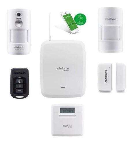 Kit Amt 8000 Wifi Intelbras Com 12 Sensores Infra e Mag