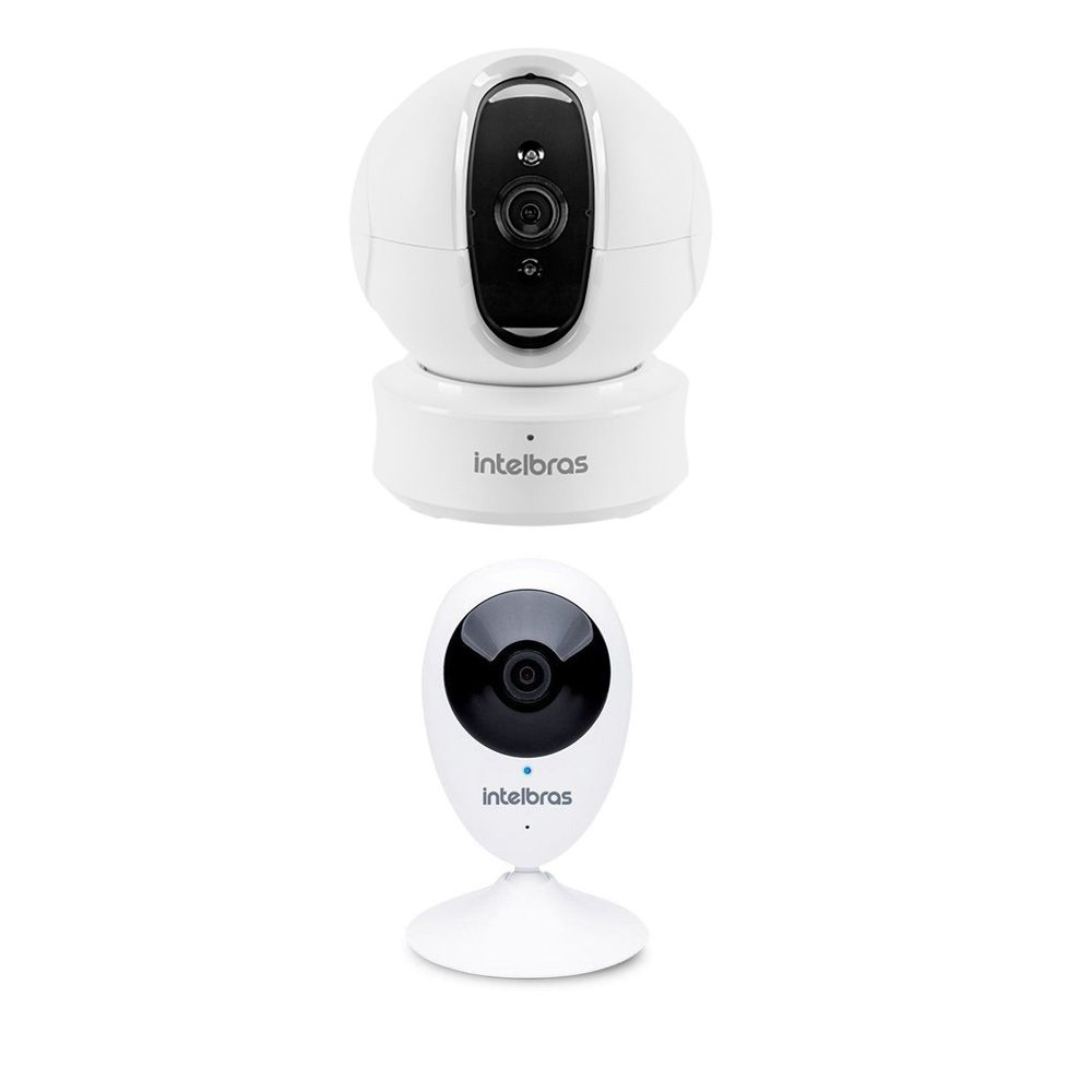 Kit Camera Mibo Infra Ic4 Ir 10m e Câmera Ip Intelbras Ic3 Wifi