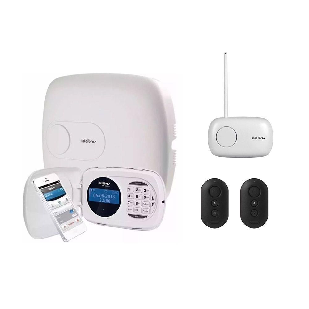 Kit Central Alarme Intelbras Amt 2018 e + Xar 4000 + 2 Controles XAC 4000