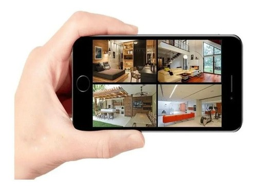 Kit Cftv 3 Cam 1120 Infra 20m Dvr 4 Canais 720p + HD App Cel
