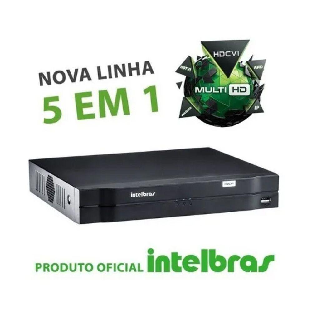 Kit Cftv 4 Câmeras Intelbras Vhl 1120b 20m Dvr 8 Canais C/ Hd