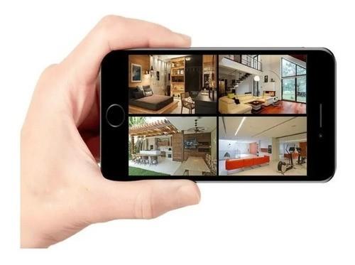 Kit Cftv 8 Cam 1120 Infra 20m Dvr 8 Canais 720p + HD App Cel