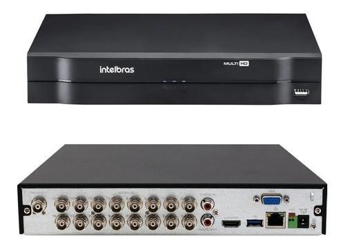 Kit cftv Intelbras cftv 12 Cam 1120B HD Dvr Mhdx 1116 C/ 1TB