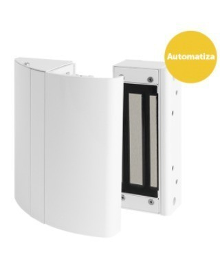 Kit Elite Branco Fechadura eletroímã 150 Kgf C/ Sensor