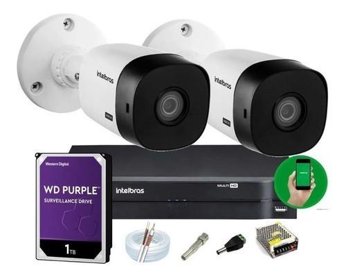 Kit Intelbras 2 Cam 1120b Dvr 4 Mhdx 1104 Hd 1 1tb Wd Purple
