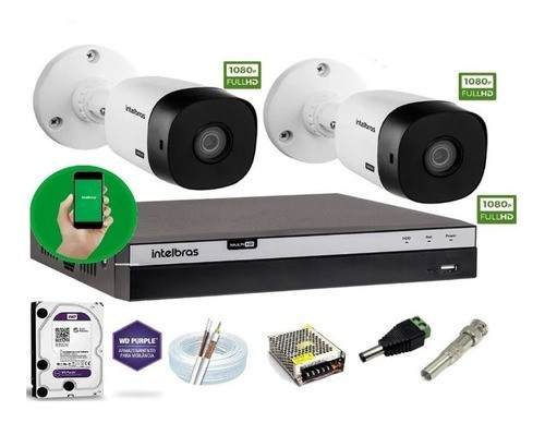 Kit Intelbras 2 Camera Seg 1220B Fullhd Dvr Mhdx 3104 +1Tb