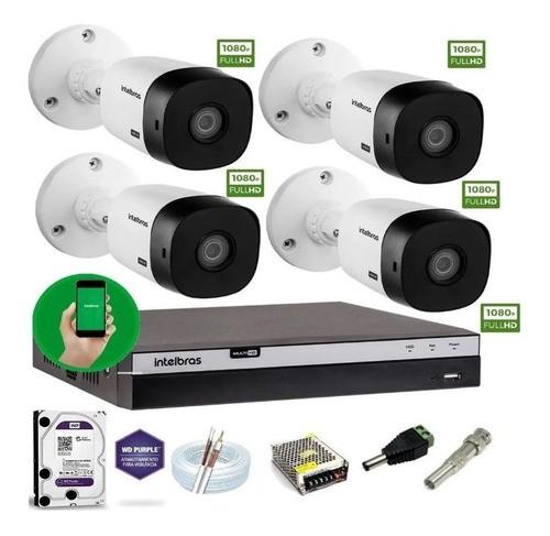 Kit Intelbras 4 Cam 1220b G4 Full Hd 1080p Dvr 3104 1TPurple
