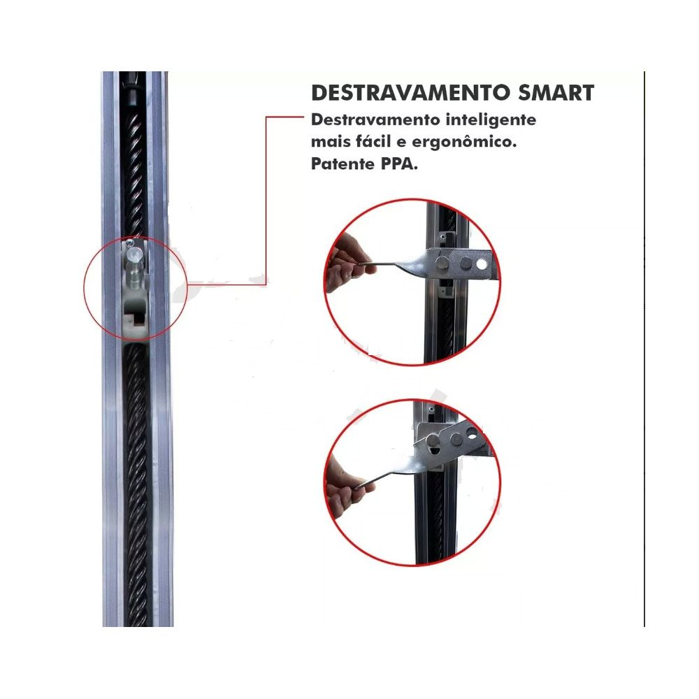 Kit Motor De Portão Eletrônico Basculante Ppa Bv Home Smart 1/4 Rápido 7s