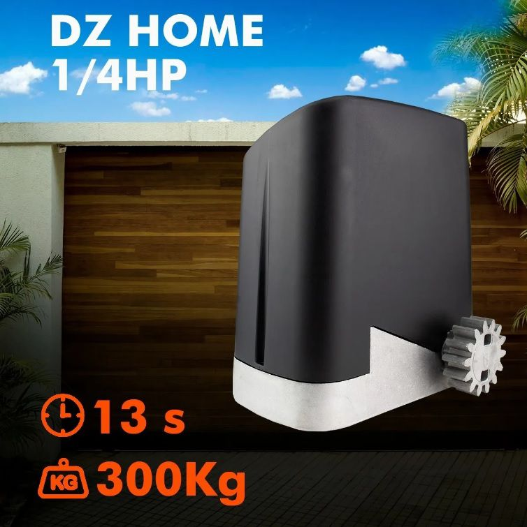 Kit Motor Ppa Dz Home 1/4 3m Crem 2 Control Portão 300kg