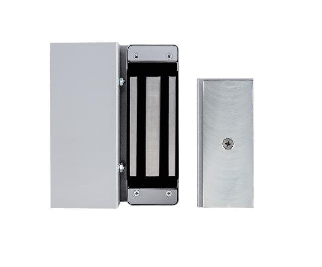 KT 741 Prata Conjunto de suportes com fechadura eletroímã FE 150 Intelbras