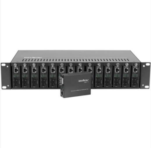 KX 1400 R Chassi com 14 Slots para Conversores de Mídia e Fonte Redundante